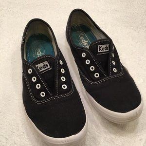 Keds black unisex 7.5 shoes whites detailing
